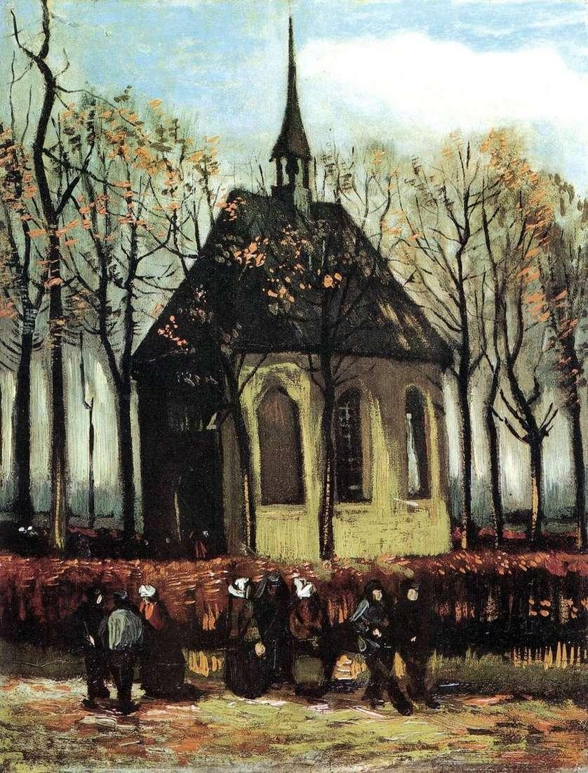 الخروج من الكنيسة البروتستانتية في نوينين   فنسنت فان جوخ