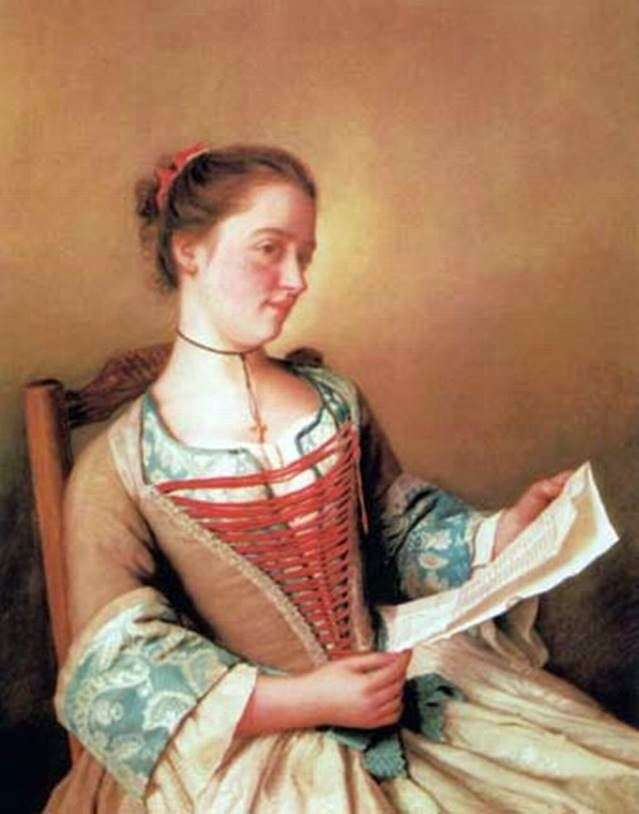 Mademoiselle Lavergne ، ابنة أخت الفنان   Jean Étienne Lyotard