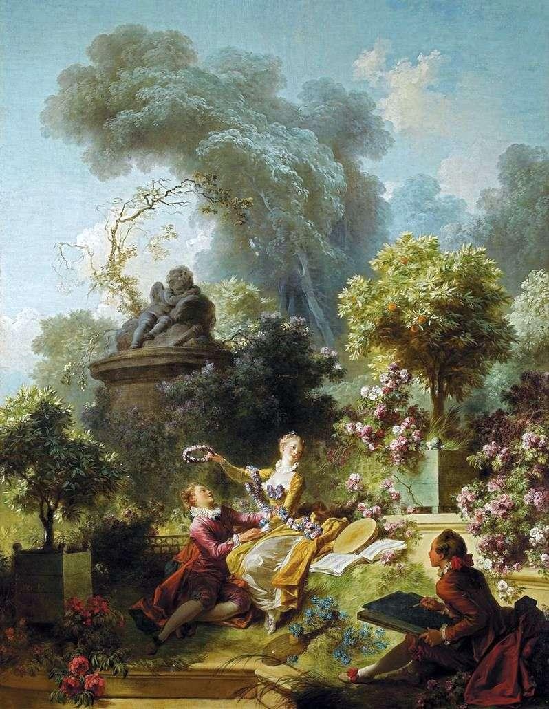 اكليلا من اجل الحبيب   جان هونوري Fragonard