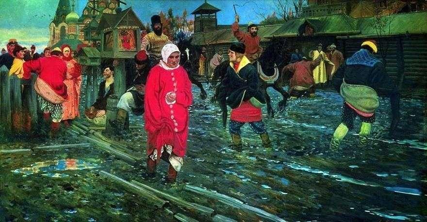 شارع موسكو في القرن السابع عشر في يوم عطلة   أندريه ريابوشكين