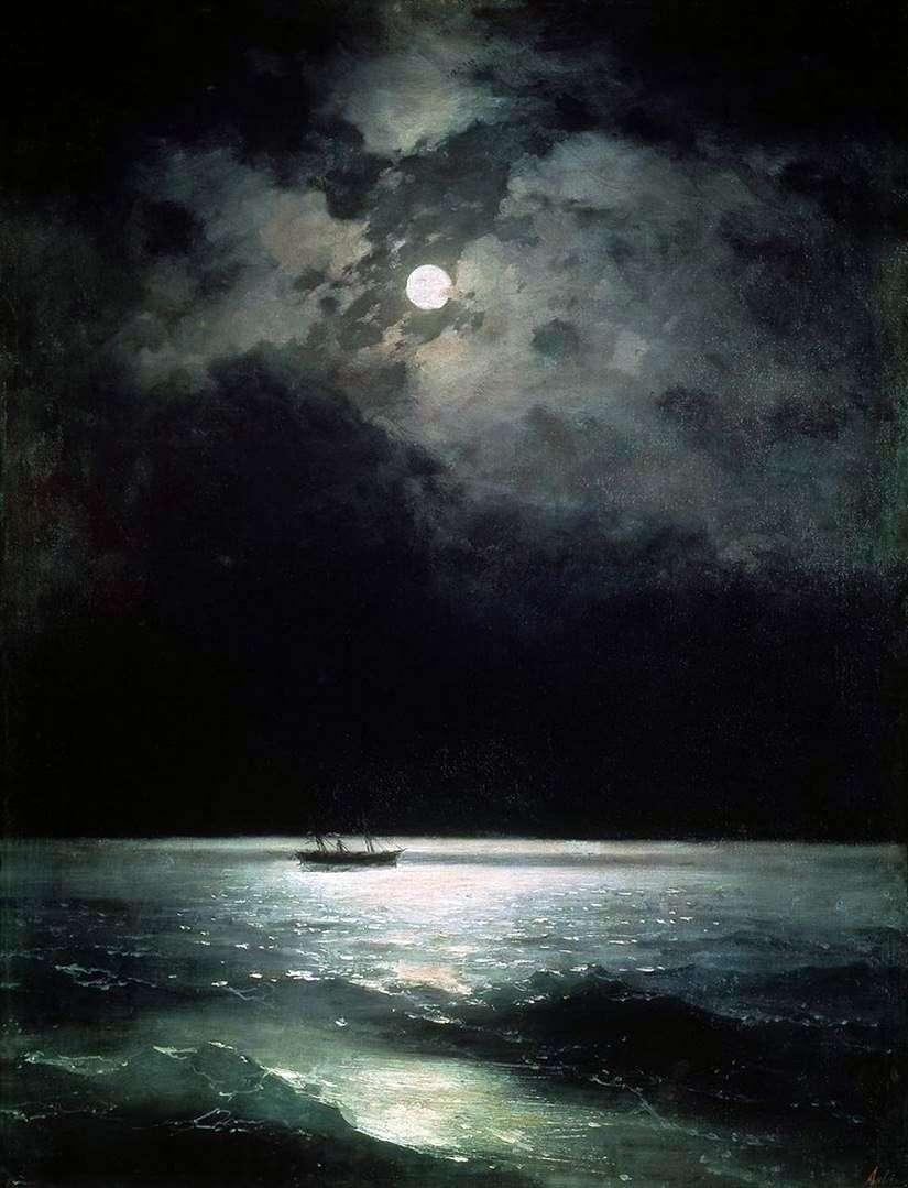 البحر الأسود في الليل   إيفان إيفازوفسكي