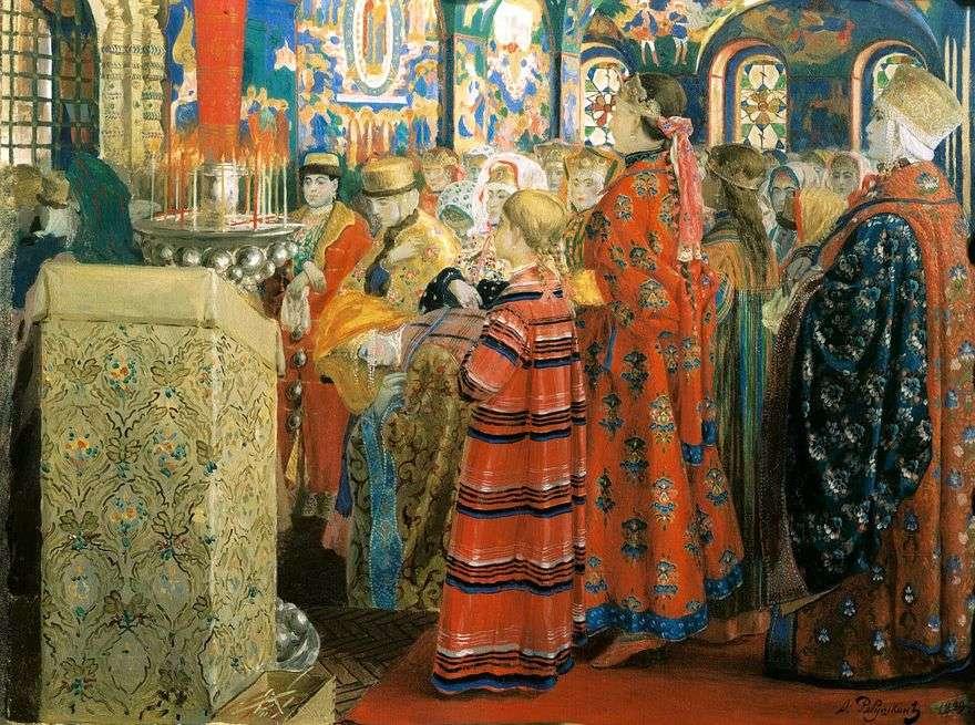 النساء الروسيات في القرن السابع عشر في الكنيسة   أندريه بتروفيتش ريابوشكين