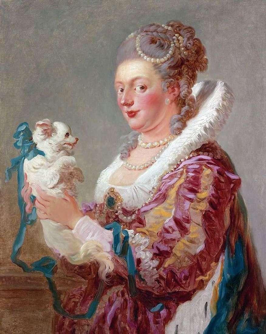 سيدة مع كلب   جان هونوري Fragonard