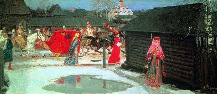 قطار الزفاف في موسكو (القرن السابع عشر)   أندريه ريابوشكين