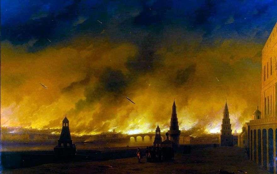 حريق موسكو في عام 1812   إيفان إيفازوفسكي