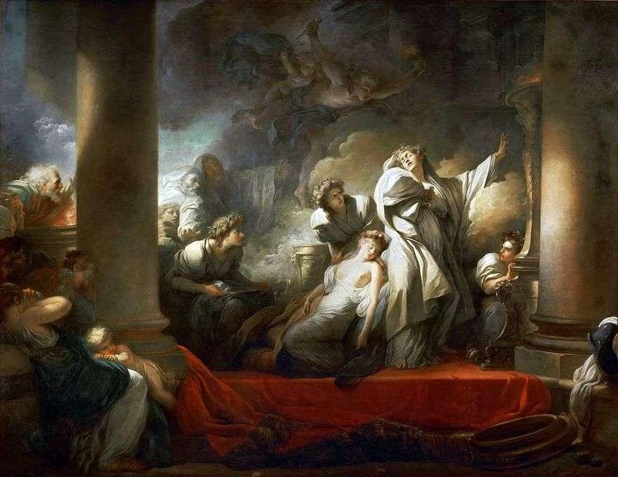 الكاهن كورز يضحى بنفسه من أجل Calliroi   Jean Honore Fragonard