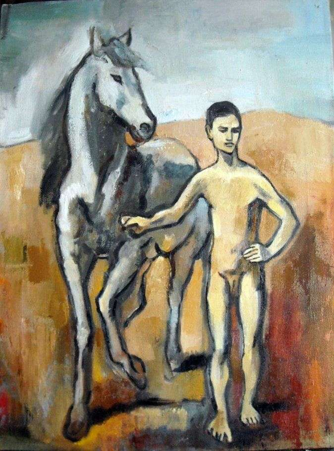 الصبي هو الحصان الرئيسي   بابلو بيكاسو