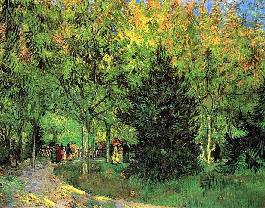 الطريق في الحديقة العامة في آرل   فنسنت فان جوخ