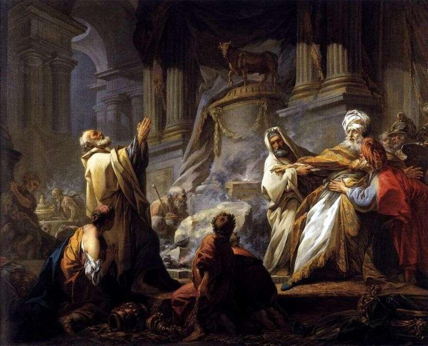 Jeroboam تضحيات الأصنام   جان هونوري Fragonard
