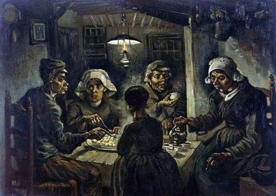 أكلة البطاطس   فنسنت فان جوخ