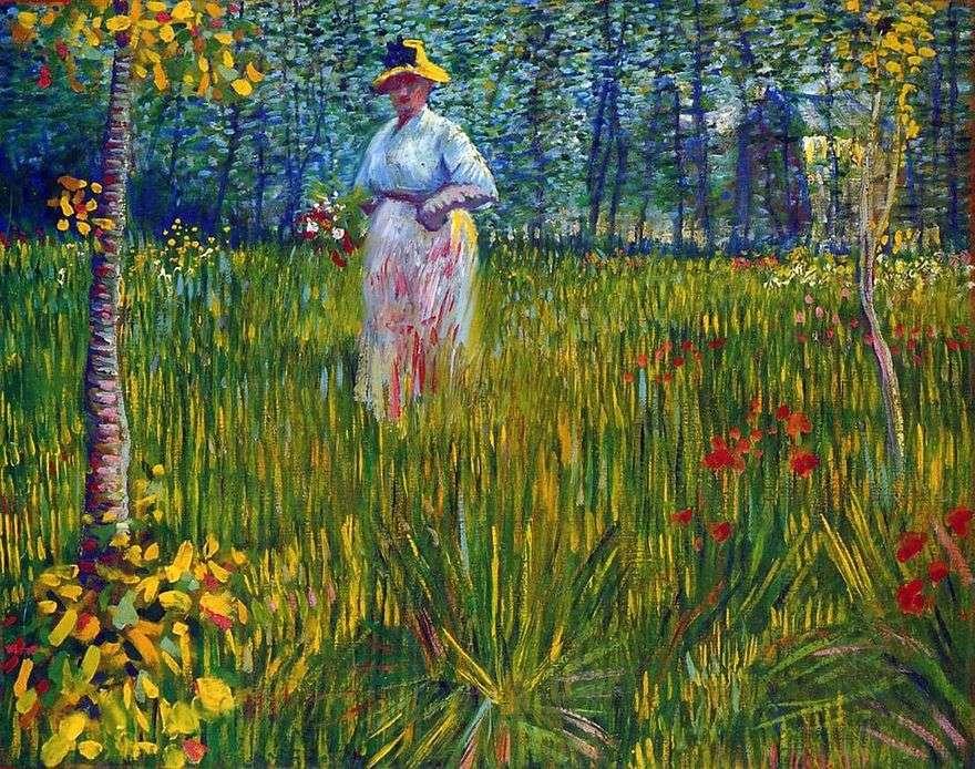 امرأة في الحديقة   فنسنت فان جوخ
