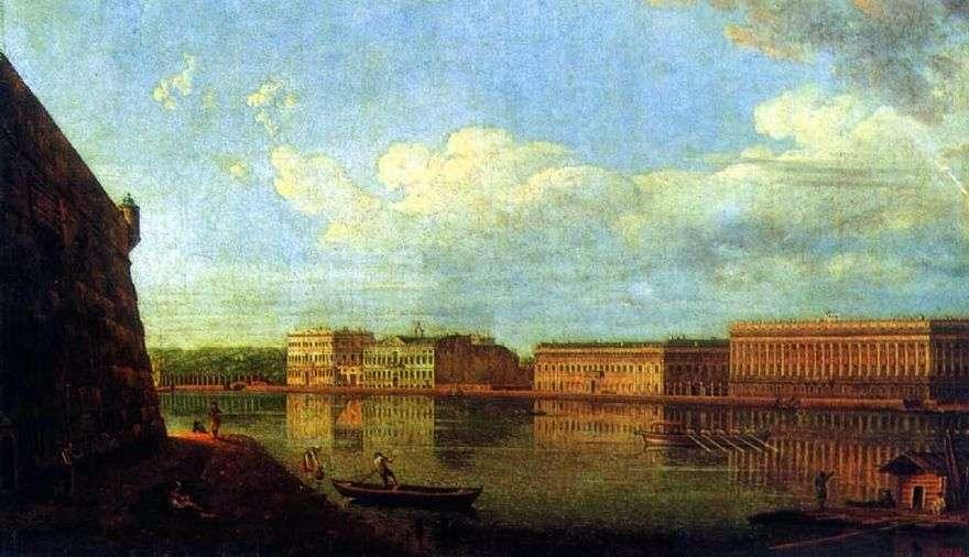 منظر لسد القصر من قلعة بطرس وبولس   فيدور أليكسييف