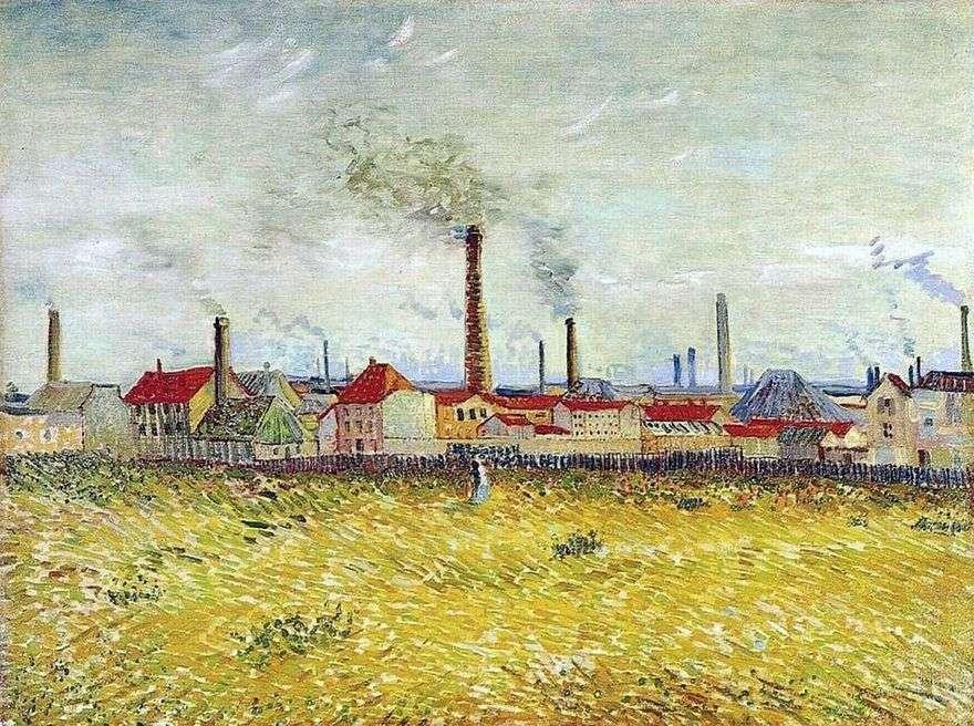 مصانع في أنير ، منظر من ضواحي دي كليشي   فنسنت فان جوخ