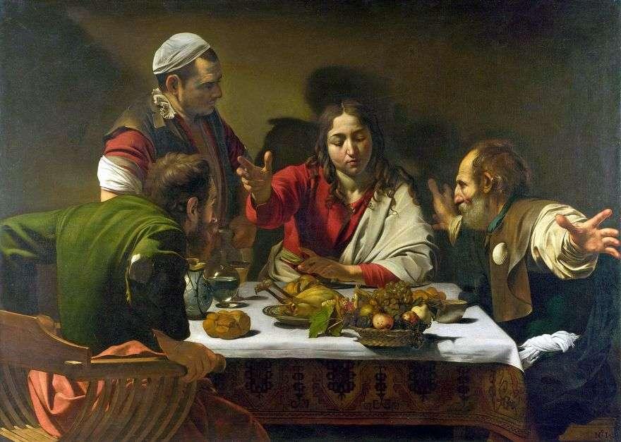 عشاء في Emmaus   Michelangelo Merisi دا كارافاجيو