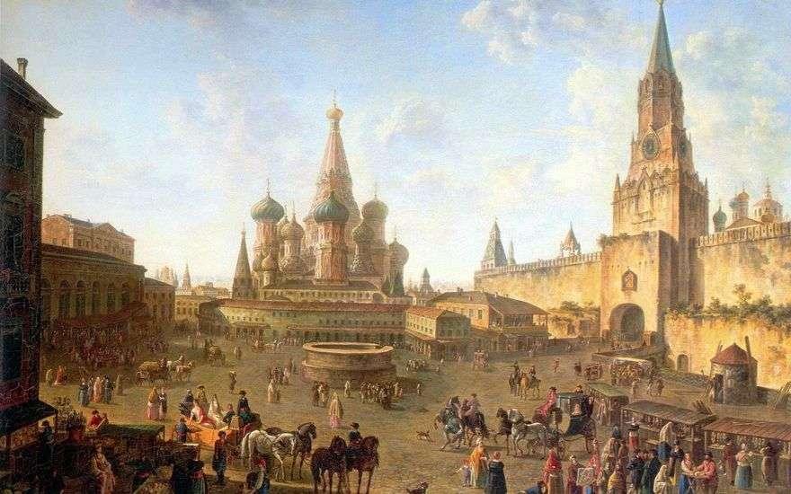 الساحة الحمراء في موسكو   فيدور الكسيف
