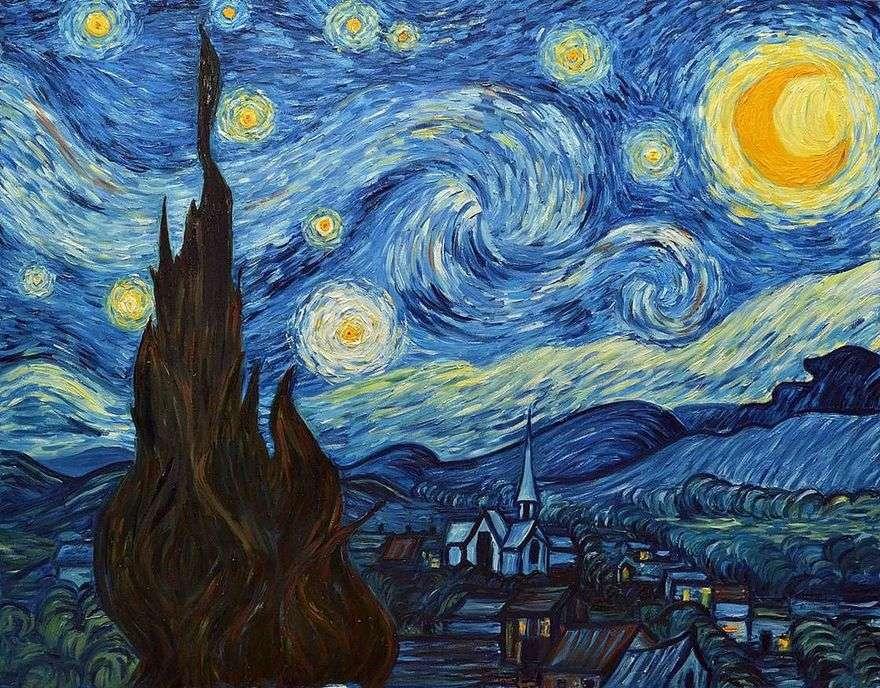 ليلة مليئة بالنجوم   فنسنت فان جوخ