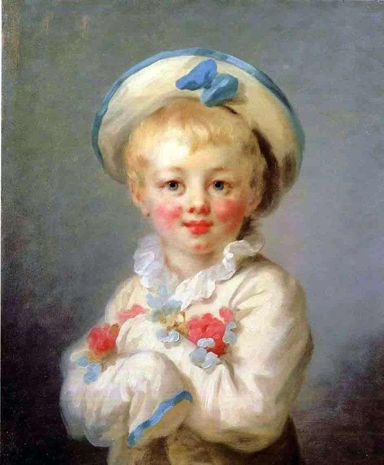 Boy as Pierrot   Jean Honore Fragonard