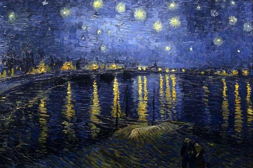 ليلة مليئة بالنجوم فوق الرون   فنسنت فان جوخ