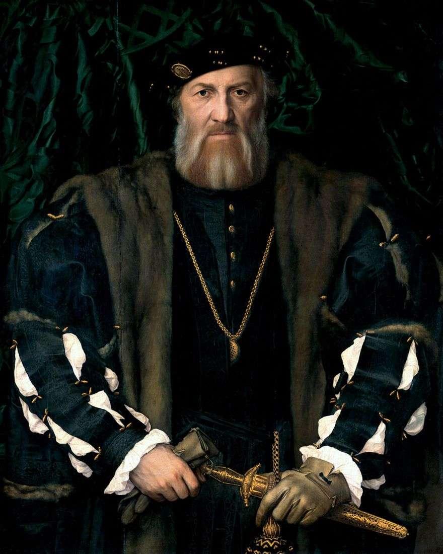 صورة للسفير الفرنسي في إنجلترا ، السير موريت تشارلز دي سولير   هانز هولباين