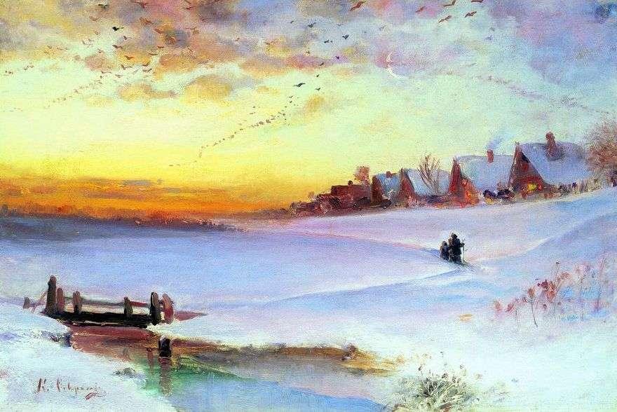 الشتاء المناظر الطبيعية (ذوبان الجليد)   أليكسي Savrasov