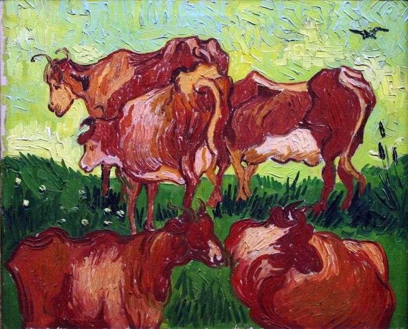 الأبقار (بعد جوردان)   فنسنت فان جوخ