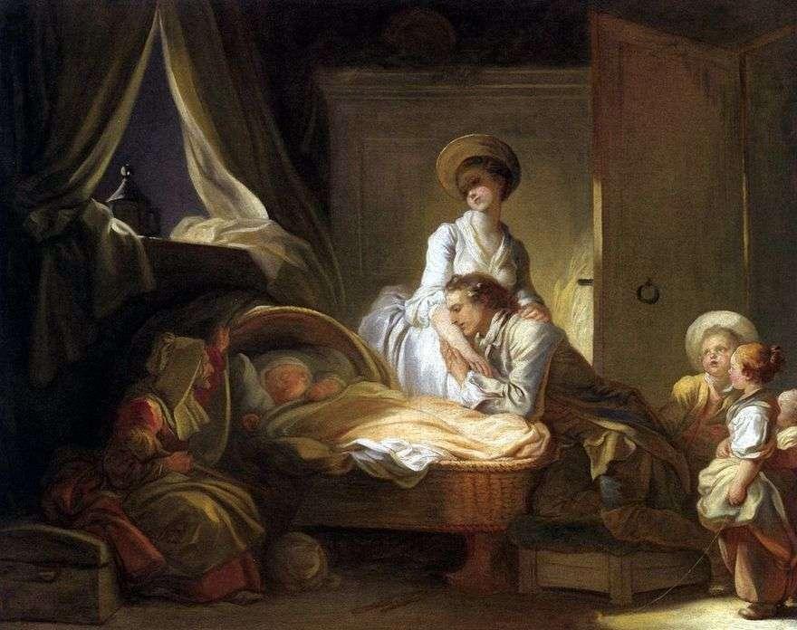 زيارة غرفة الأطفال   Jean Honore Fragonard