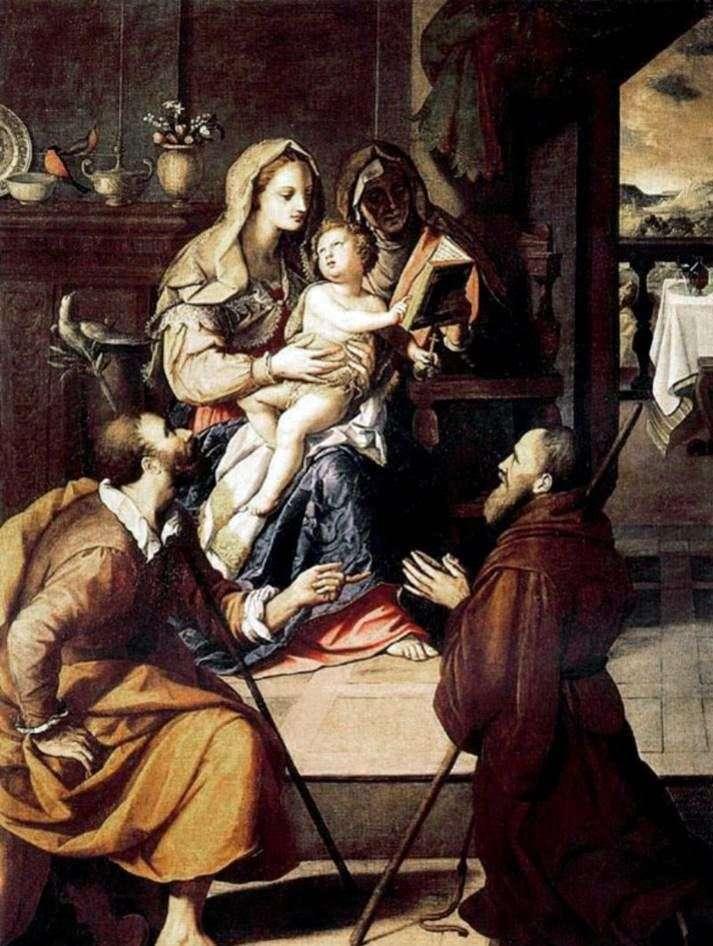 العائلة المقدسة والكردينال ميديشي   اليساندرو ألوري