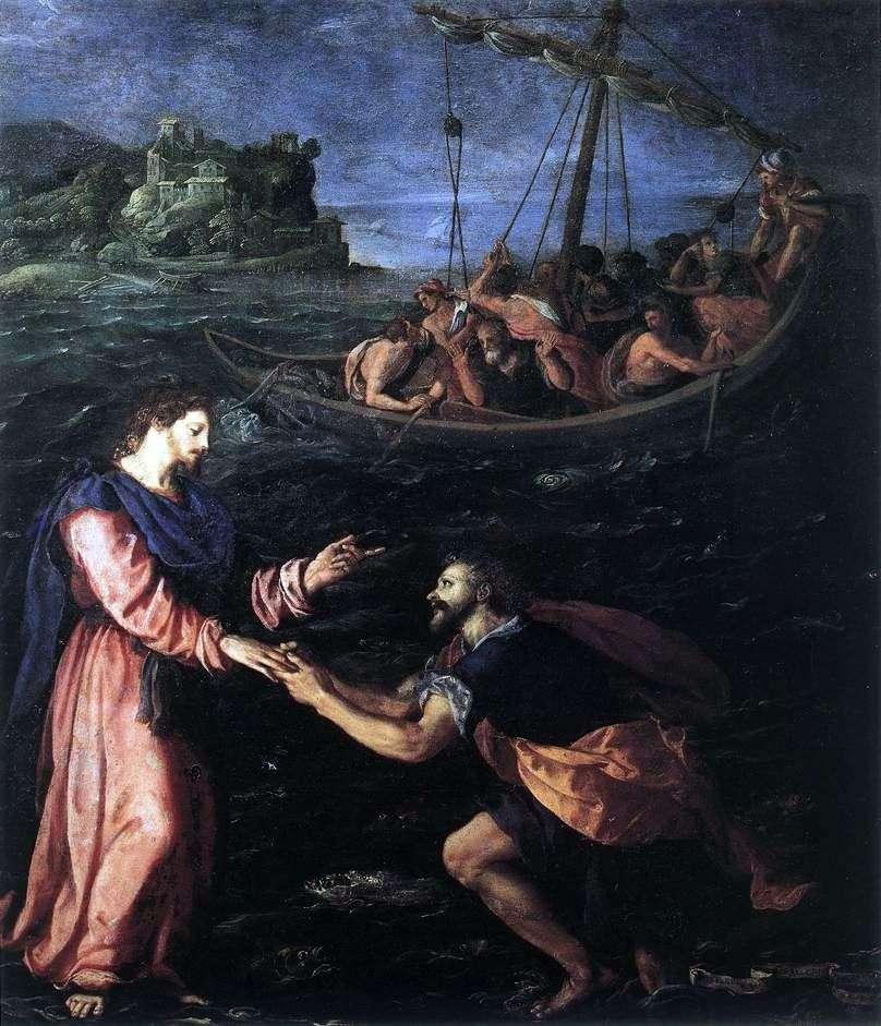 القديس بطرس يمشي على الماء   اليساندرو ألوري