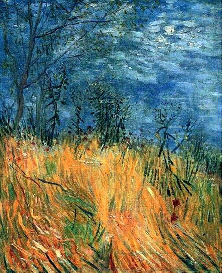 حافة حقل القمح مع الخشخاش   فنسنت فان جوخ