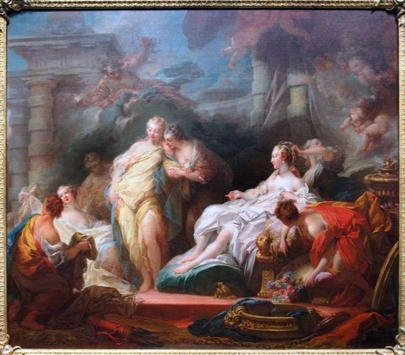 Psyche يظهر أخواته الهدايا من كيوبيد   جان هونوري Fragonard