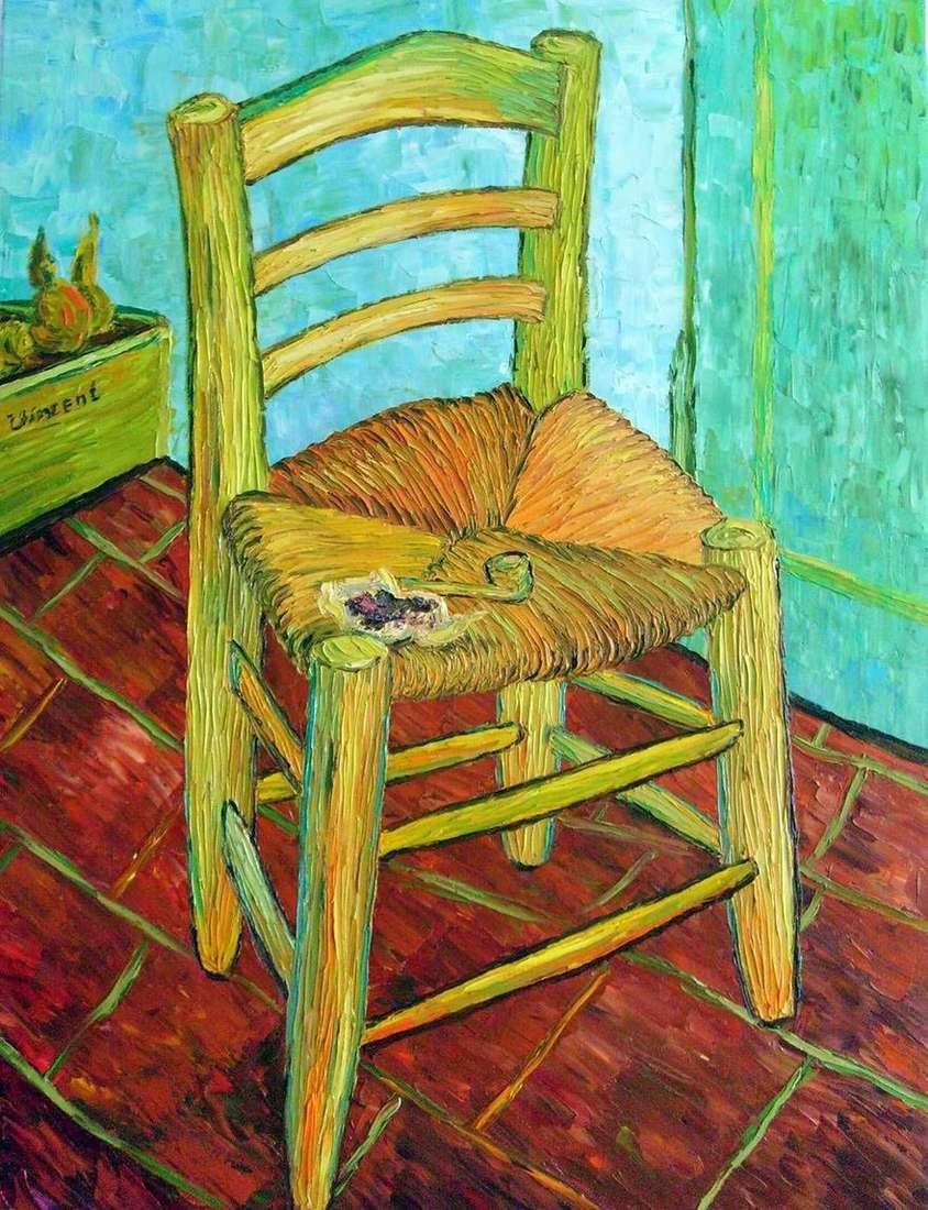 كرسي فنسنت وأنبوبه (كرسي فنسنت مع أنبوب)   فنسنت فان جوخ