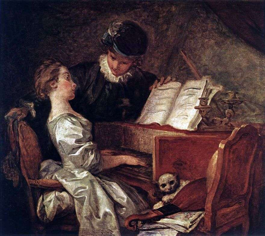درس الموسيقى   جان أونوريه Fragonard