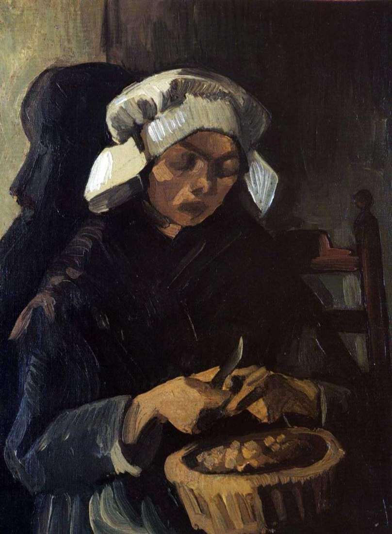 امرأة الفلاح تطهير البطاطس   فنسنت فان جوخ