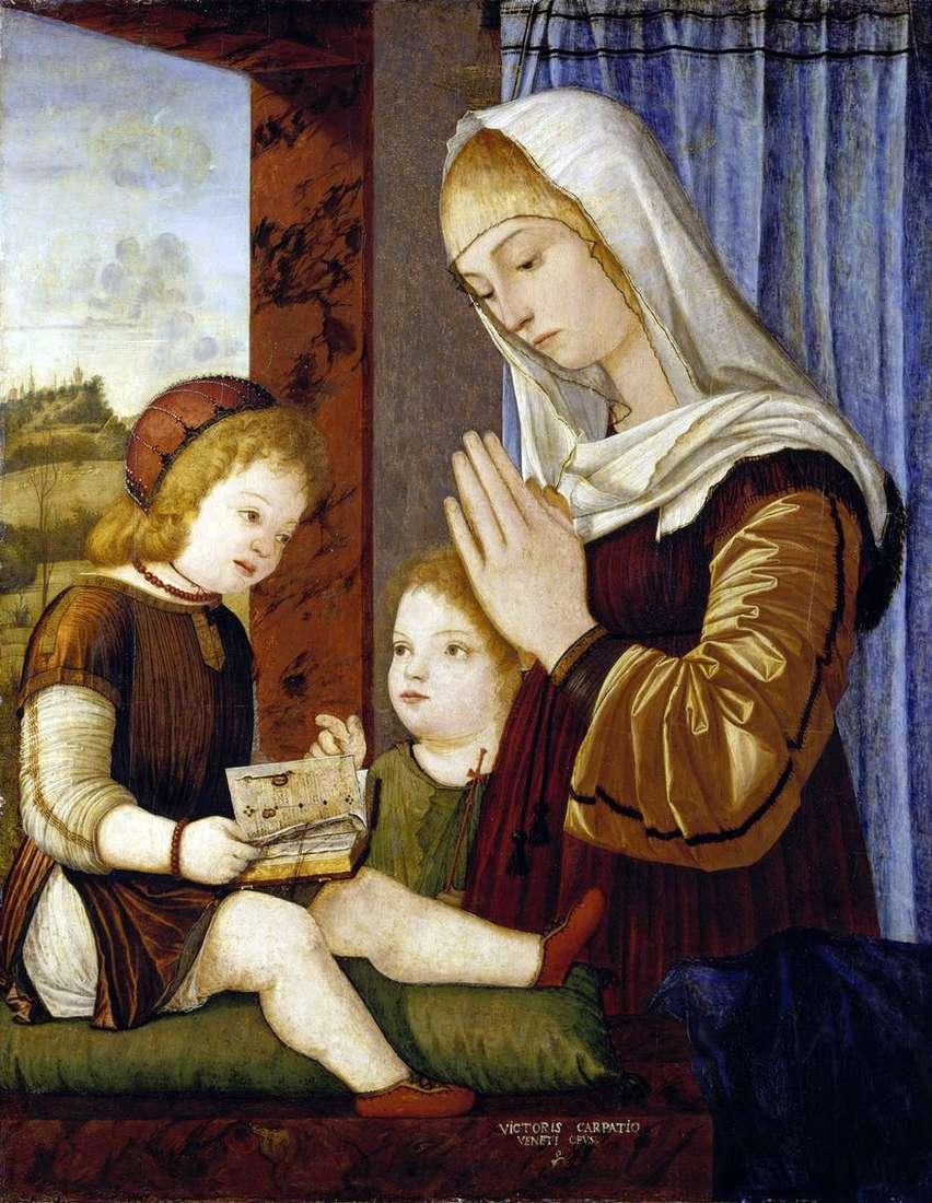 مادونا والطفل مع يوحنا المعمدان   فيتوريو كارباتشيو