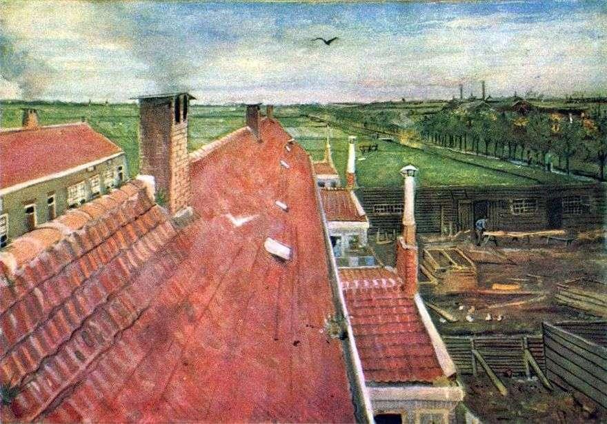 سقف. منظر من ورشة العمل   فنسنت فان جوخ