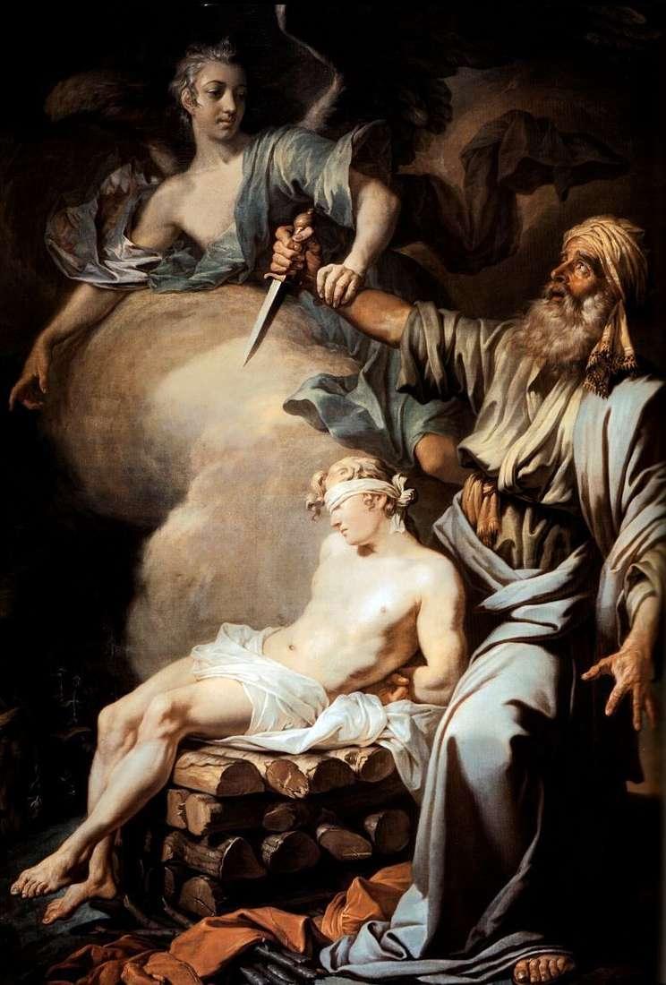 إبراهيم يضحى بابنه إسحاق (تضحية إبراهيم)   أنطون لوسينكو