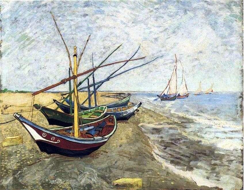 القوارب في سان ماري   فنسنت فان جوخ