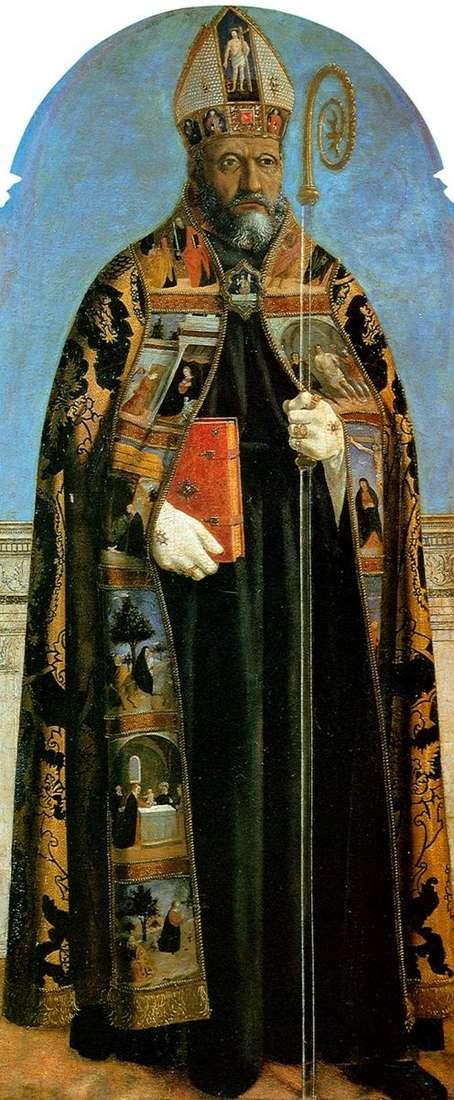 صورة المذبح من كنيسة سانت أغوستينو: القديس أوغسطين   بييرو ديلا فرانشيسكا