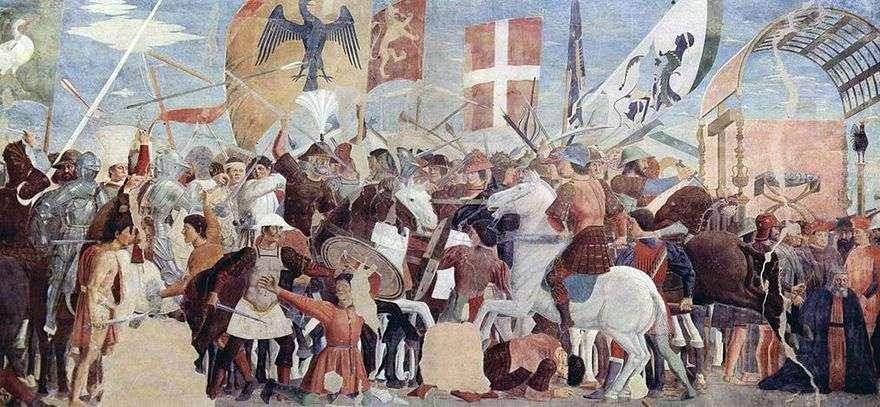معركة هرقل مع Hozroy   بييرو ديلا فرانشيسكا
