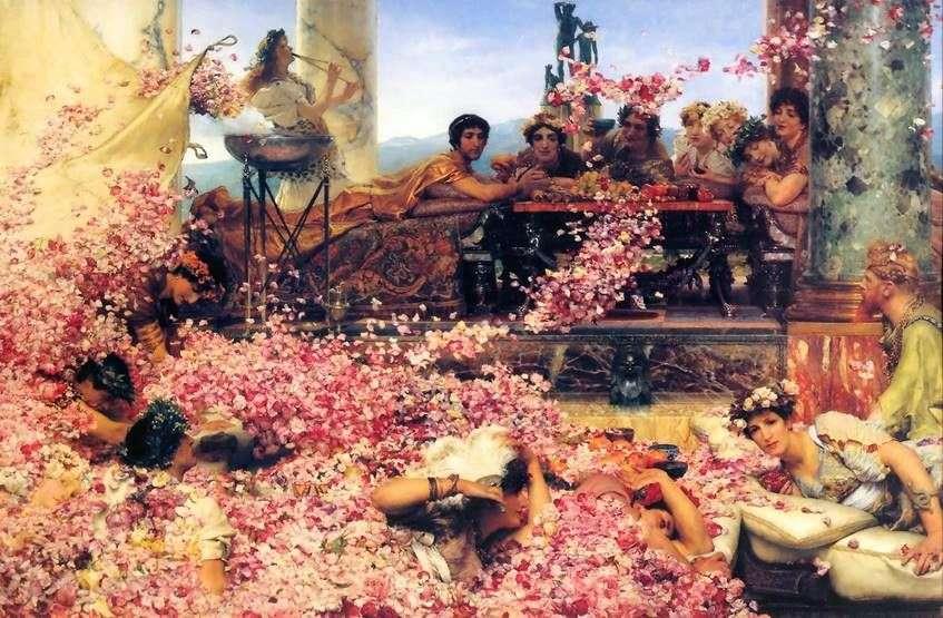 الورود Heliogabala   لورانس ألما Tadema