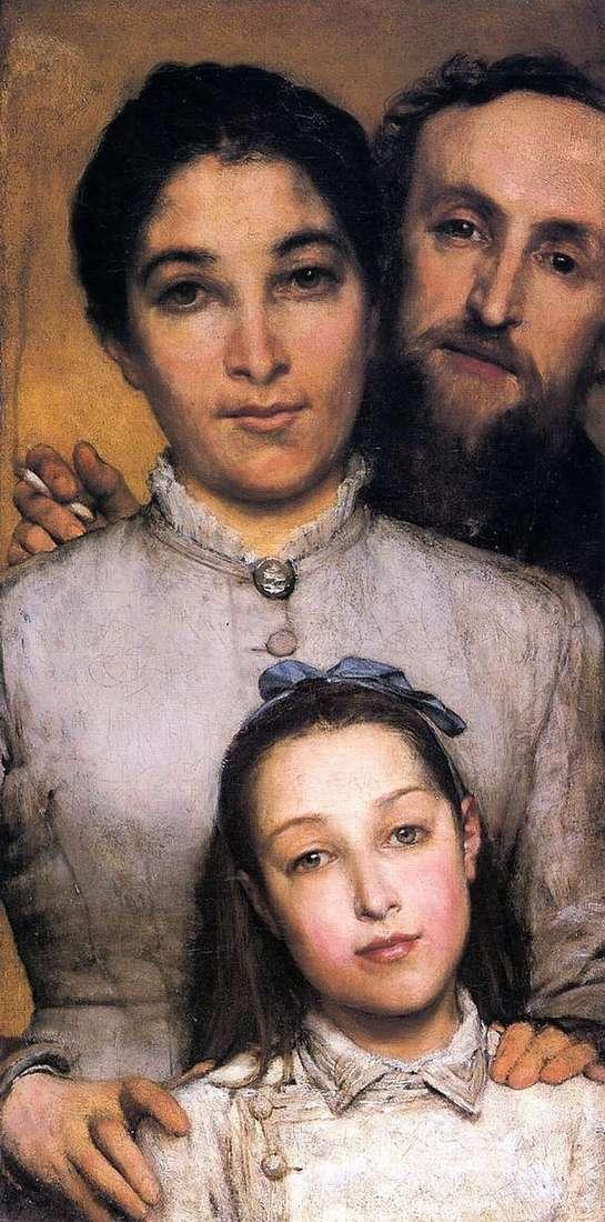 إيم جول دحل ، زوجته وابنته   لورانس ألما تيما