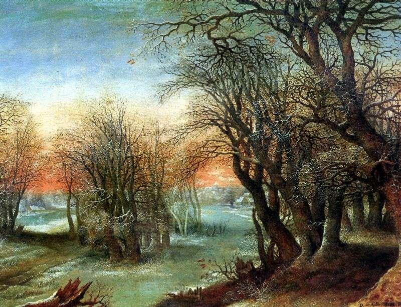 منظر للطبيعة الشتاء   Denis Alslot