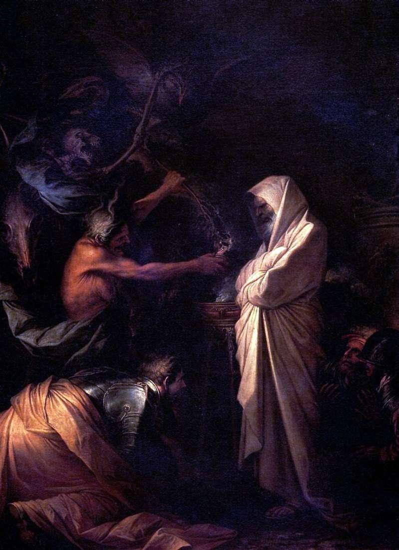 روح صموئيل دعا إلى شاول من قبل الساحرة Aendor   روزا سالفاتور