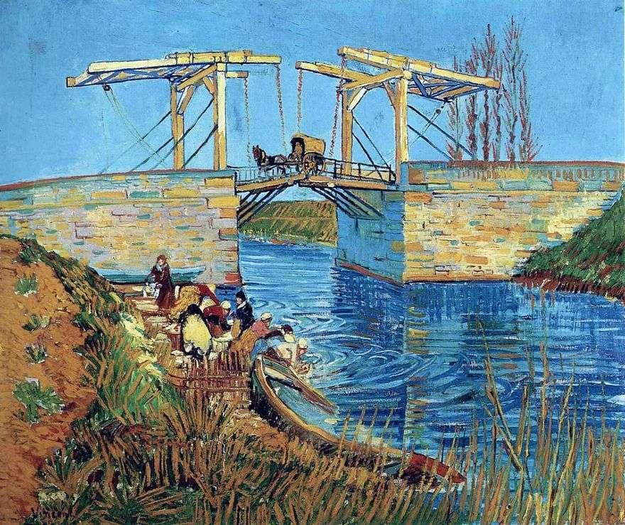 جسر لانجلوا في آرل ومسح النساء   فنسنت فان جوخ