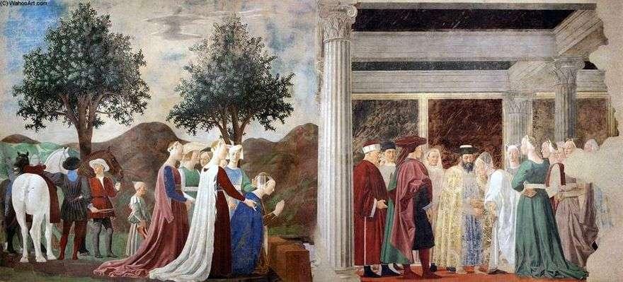 وصول ملكة سبأ إلى الملك سليمان   بييرو ديلا فرانشيسكا