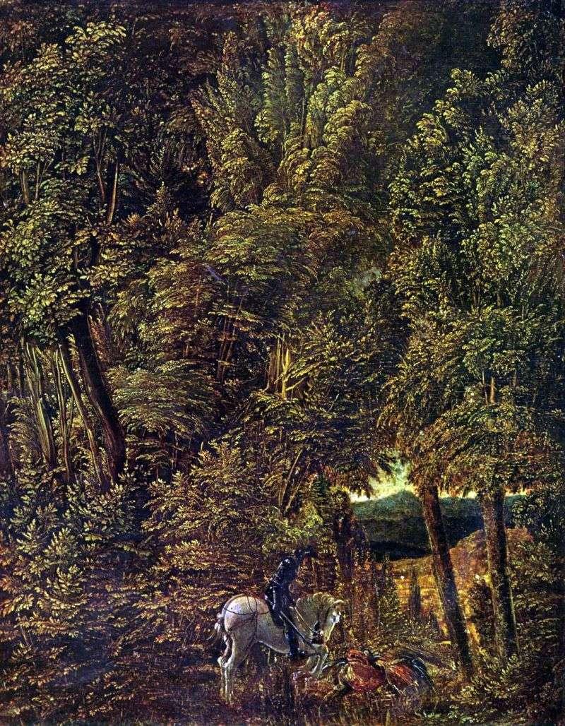 المناظر الطبيعية للغابات من سانت جورج ضرب التنين   ألبريشت التدورفر