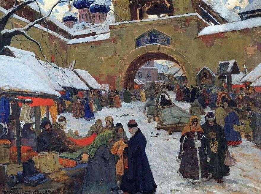 يوم السوق في البلدة القديمة   إيفان جوريوشكين سوروكوبودوف
