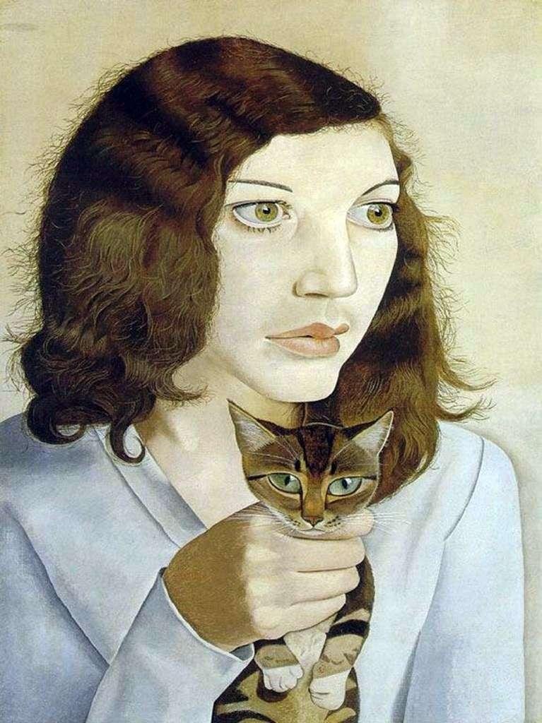 فتاة مع القط   لوسيان فرويد