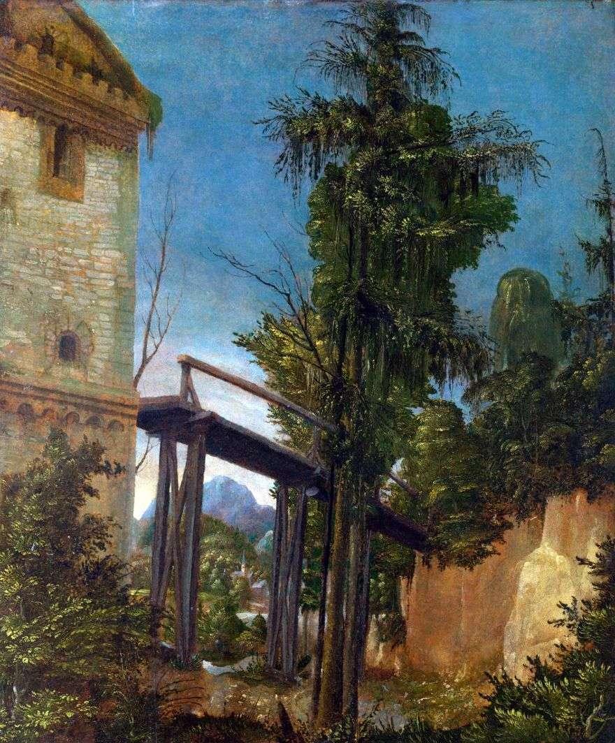 منظر طبيعي مع جسر   ألبريشت التدورفر