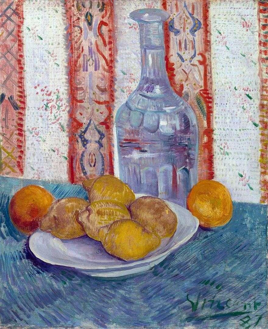 لا تزال الحياة مع كاراف والليمون على طبق   فنسنت فان جوخ